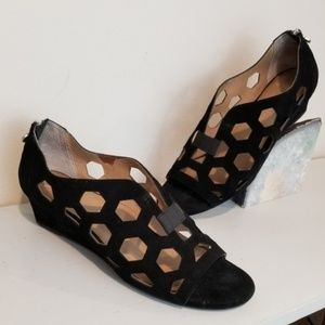 Betty Muller Anthropologie Honeycomb cutout wedges